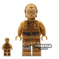 Product shot LEGO Star Wars Mini Figure - C-3PO - Printed Legs