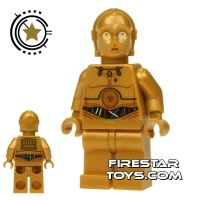 Product shot LEGO Star Wars Mini Figure - C-3PO - Wires