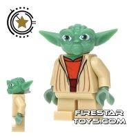 Product shot LEGO Star Wars Mini Figure - Clone Wars Yoda Jedi Master