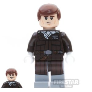 Product shot LEGO Star Wars Mini Figure -  Han Solo - Dark Brown Jacket