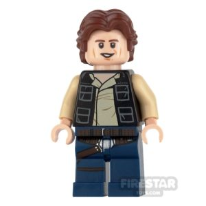 Product shot LEGO Star Wars Mini Figure -  Han Solo - Wavy Hair