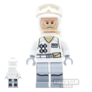 Product shot LEGO Star Wars Mini Figure -  Hoth Rebel Trooper - White Uniform 3