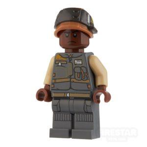 Product shot LEGO Star Wars Mini Figure - Rebel Trooper - Dark Blueish Gray Jacket with Pockets
