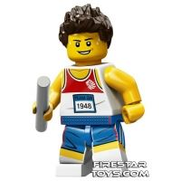 Product shot LEGO Team GB Olympic Minifigures - Relay Runner