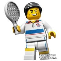 Product shot LEGO Team GB Olympic Minifigures - Tactical Tennis Player