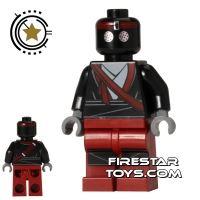 Product shot LEGO Teenage Mutant Ninja Turtles Mini Figure - Foot Soldier - Dark Red Outfit