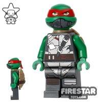 Product shot LEGO Teenage Mutant Ninja Turtles Mini Figure - Raphael with Armour