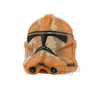 Product shot LEGO - Trooper Helmet - Tan and Dark Tan Camouflage