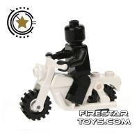 Product shot LEGO - White Motorbike