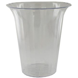 Product shot Large Flared Clear Plastic Candy Vase
