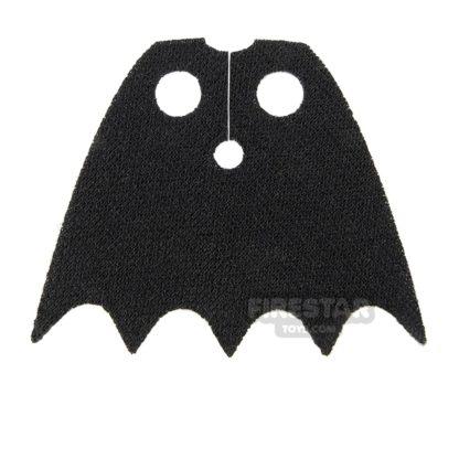 Product shot Lego Cape - Batman Scalloped 5 Points - Soft Knit - Short -  Black