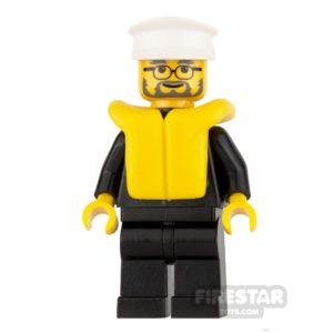 Product shot Lego City Mini Figure – Police - Life Jacket and Glasses