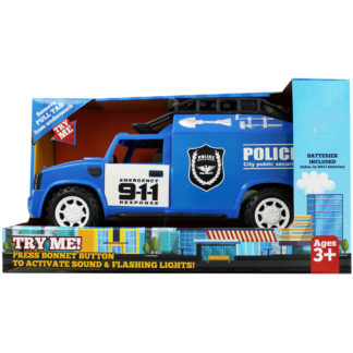 Product shot Light Up Friction Powered Emergency Police Truck