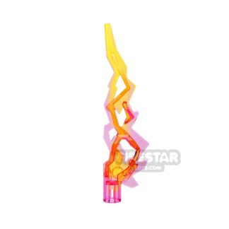 Product shot Lightning Bolt Flame - Trans Dark Pink and Yellow