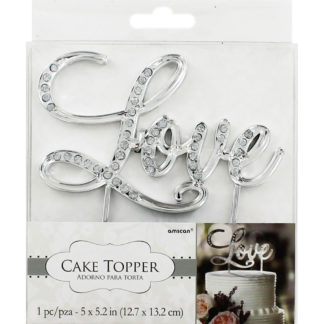 Product shot Love Silver Cake Topper