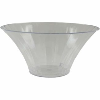Product shot Medium Flared Clear Plastic Candy Bowl