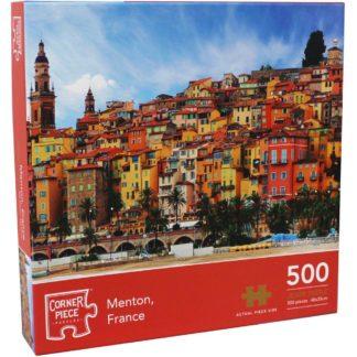 Product shot Menton France 500 Piece Jigsaw Puzzle