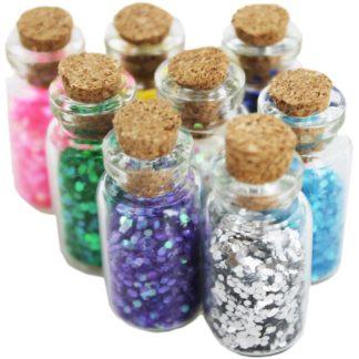 Product shot Mini Glitter Craft Jars - Set Of 8