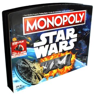Product shot Monopoly Star Wars Open And Play Game Case