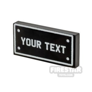 Product shot Personalised Car Licence Number Plate - Black 1x2 Tile
