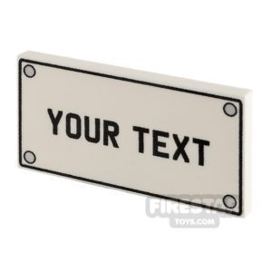 Product shot Personalised Car Licence Number Plate - White 2x4 Tile