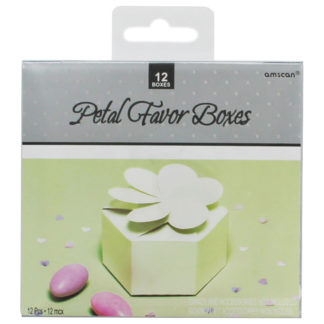 Product shot Petal Pearl White Favour Boxes - Pack Of 12