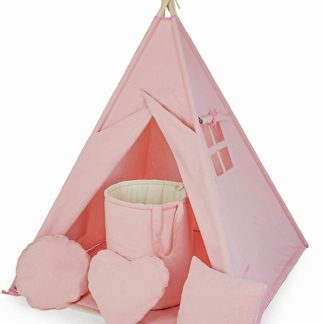 Product shot Powder Pink Teepee with Floor Mat