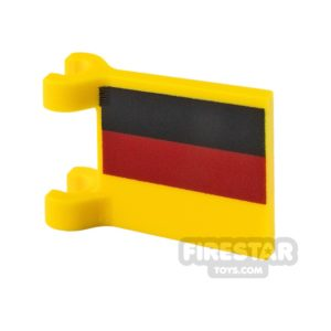 Product shot Printed Flag with 2 Holders 2x2 German Flag