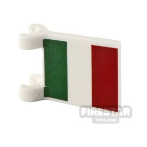 Product shot Printed Flag with 2 Holders 2x2 Italian Flag
