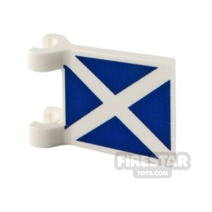 Product shot Printed Flag with 2 Holders 2x2 Scottish Flag