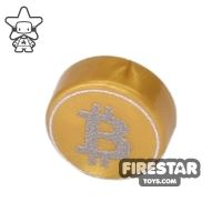 Product shot Printed Round Tile 1x1 - Brickcoin - Bitcoin