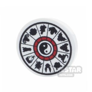 Product shot Printed Round Tile 2x2 - Chinese Calendar