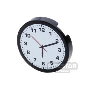 Product shot Printed Round Tile 2x2 - Clock Face - Design 1