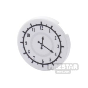 Product shot Printed Round Tile 2x2 - Office Clock Face