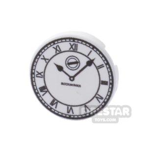 Product shot Printed Round Tile 2x2 - Roman Clock Face