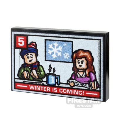 Product shot Printed Tile 2x3 - TV News Report - Winter Is Coming