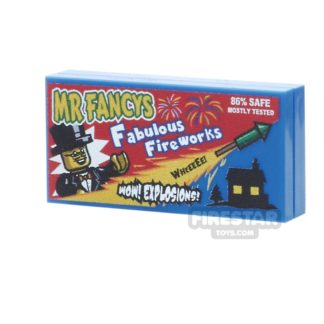 Product shot Printed Tile 2x4 - Mr Fancys Fabulous Box of Fireworks
