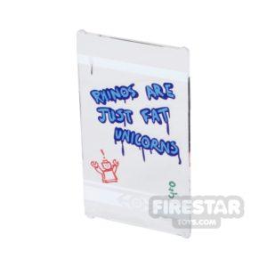 Product shot Printed Window Glass 1x4x6 - Bus Stop Window With Graffiti