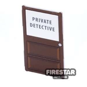 Product shot Printed Window Glass 1x4x6 - Private Detective Door
