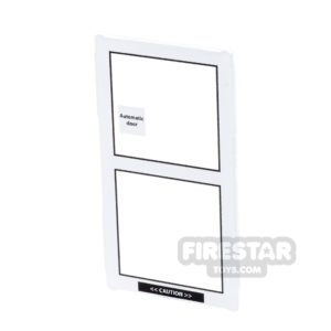 Product shot Printed Window Glass 1x4x6 - Sliding Door - Right