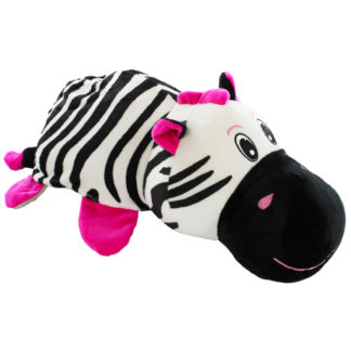 Product shot Reversimals 2-In-1 Plush Soft Toy - Zebra And Hippo