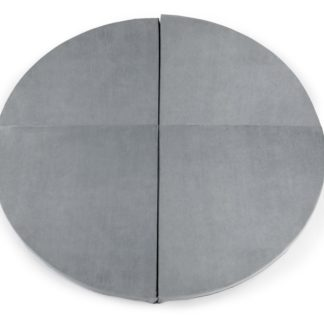 Product shot Round 130cm Light Grey Foam Play Mat