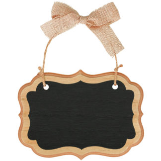 Product shot Rustic Wood Mini Hanging Chalkboard Sign