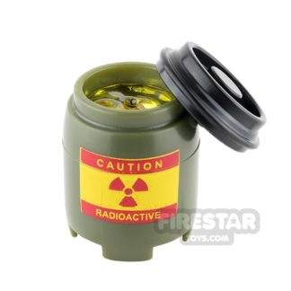 Product shot SI-DAN - BI120 Plastic Drum with Liquid - Radioactive - Tank Green