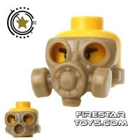 Product shot SI-DAN - Gas Mask Type 2 - Dark Tan