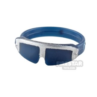 Product shot SI-DAN - Safety Goggles T800A - Dark Blue and Silver