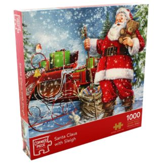 Product shot Santa Claus With Sleigh 1000 Piece Jigsaw Puzzle