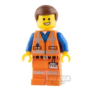 Product shot The LEGO Movie 2 Minifigure Emmet Wink Smile and Scared