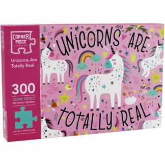 Product shot Unicorns Are Real 300 Piece Jigsaw Puzzle