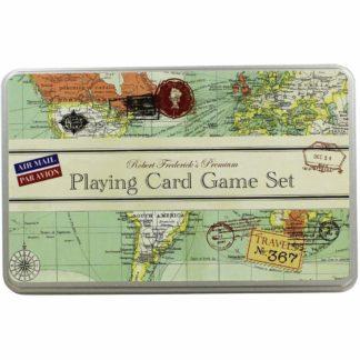 Product shot Vintage Map Playing Card Game Set